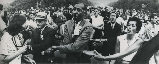 Julian Bond was in the front-lines during the March On Washington in 1963