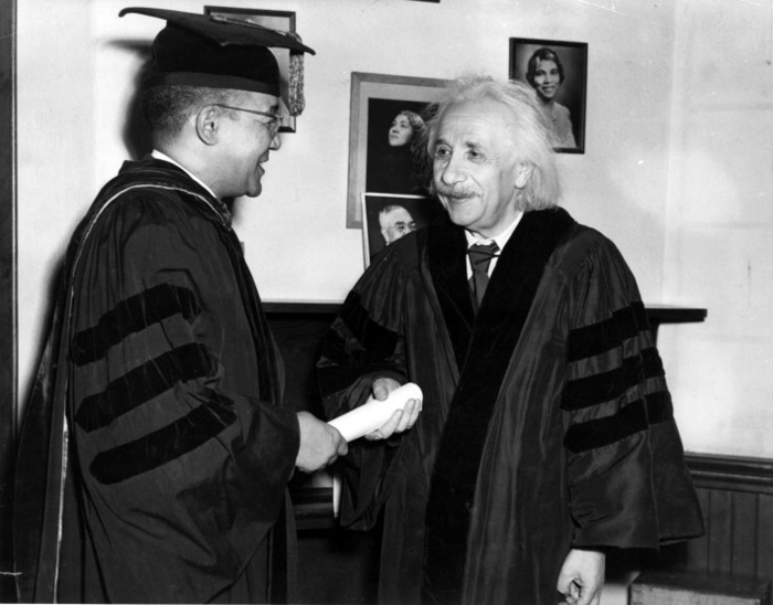 Julian's father and Albert Einstein at Lincoln University