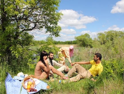 """The Luncheon on the Grass"" by artist 2FIK; one of many photographs that will be included in his exhibition at the Invisible Dog in April 2013!"