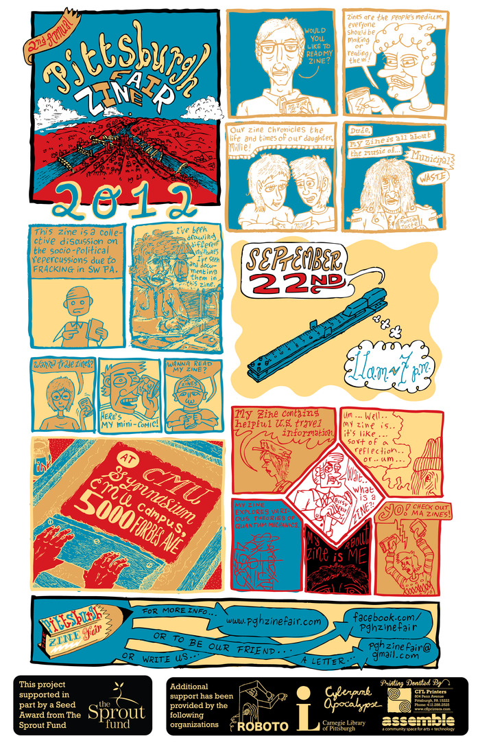 2012 Pittsburgh Zine Fair Poster