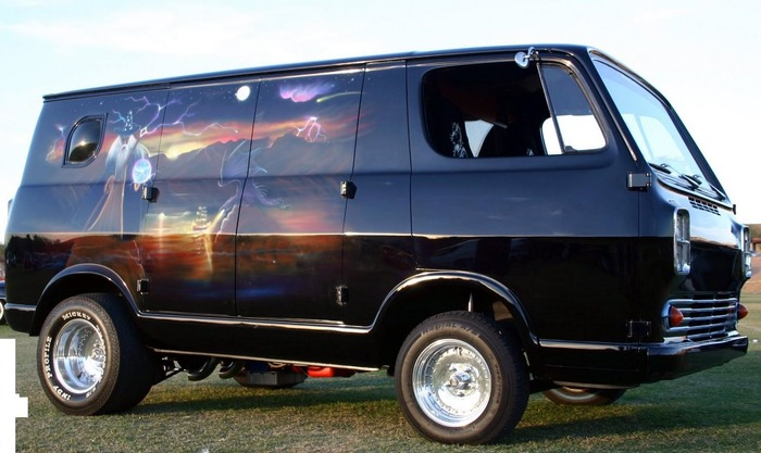 Pictured: Potential Bitchin' Wizard Van.  Ours will have more flames.