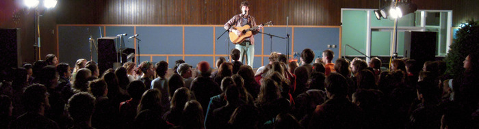 Opening for Joe Purdy at Lewis & Clark College.