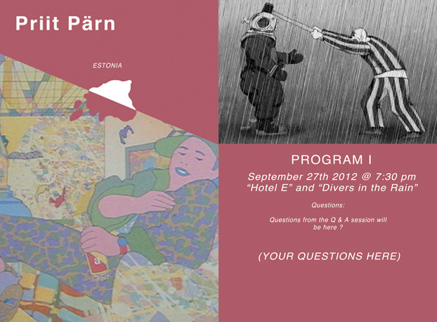 PRIIT PÄRN Introduction to Program I  (content to follow screenings)