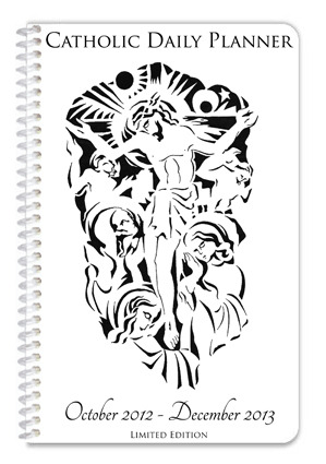 The Limited Edition Catholic Daily Planner, rewarded for a pledge of $50 or more.