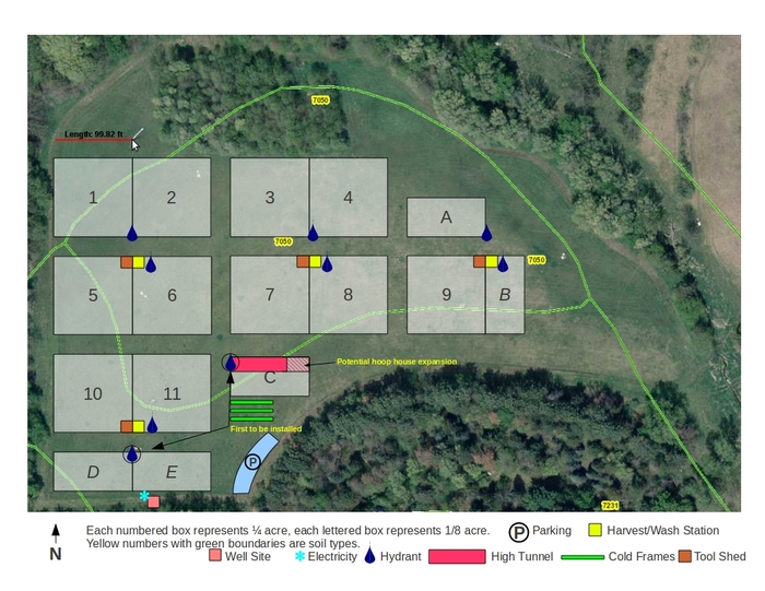 Field Map for first field at Prairie Pines