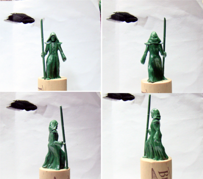 "early ""green"" for the Wizard hero miniature"