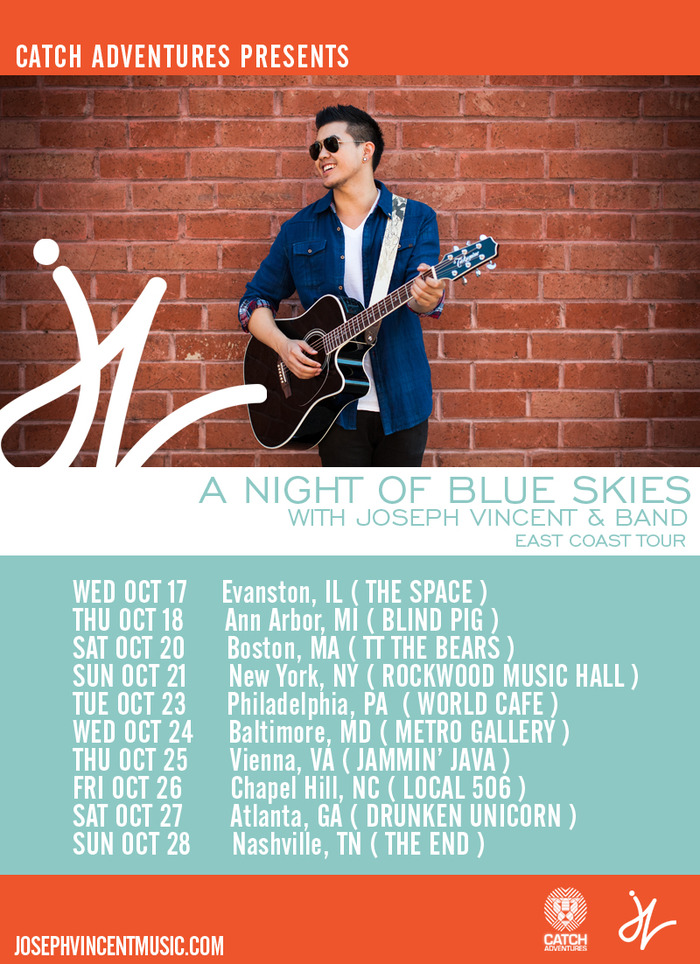 JOSEPH VINCENT EAST COAST TOUR DATES
