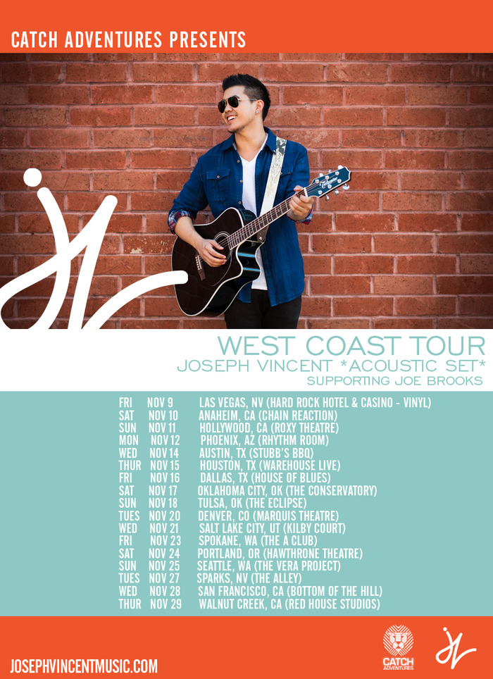 BUY TICKETS for JOSEPH VINCENT WEST COAST TOUR