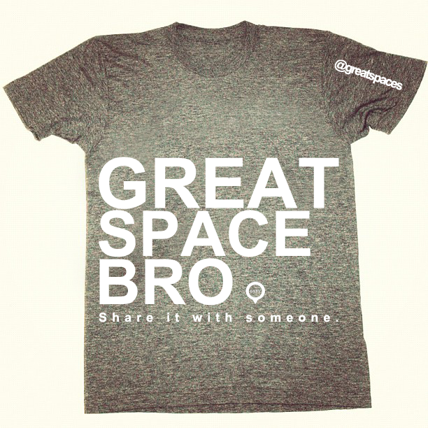 "Autumn/Winter 2012-13 release crew neck T-Shirt. Athletic grey 'GREAT SPACE BRO"" graphic print. 100% cotton. Made in USA."