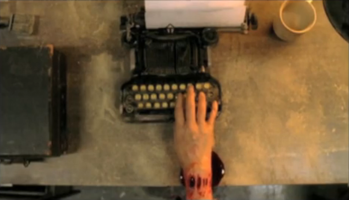 Prosthetic hand + typewriter