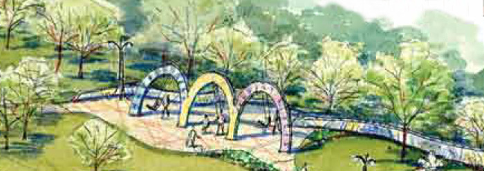 Artist rendering of the swings at Smither Park