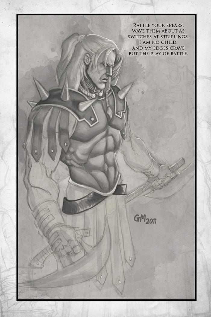 "8.5"" x 11"" Warrior Print!"
