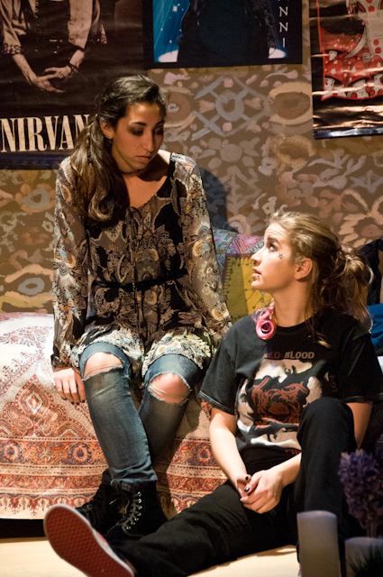 "Emma Levine-Sporer and Megan Putnam in the world premiere of ""Familiar Strangers"""
