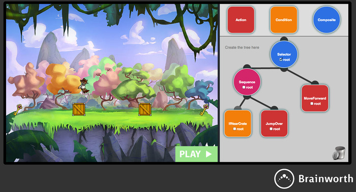 Learn Behaviour Trees by automating your character in a platform game