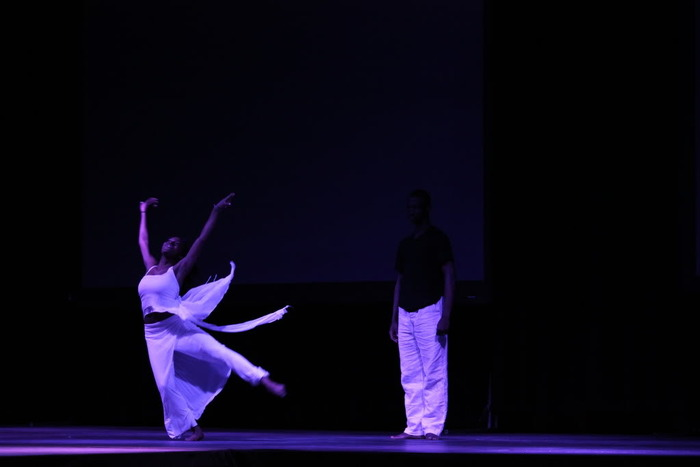 Performers: One of our three dancing sets; contemporary ballet