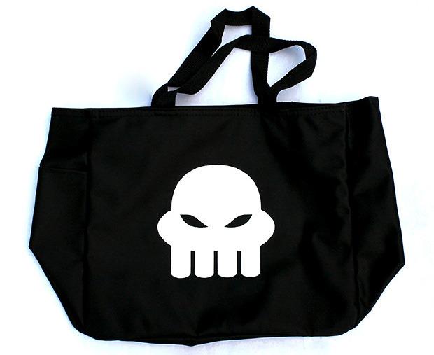 "Black Grimdark Squiddle tote bag (14""w x 12""h x 6.5""d)"