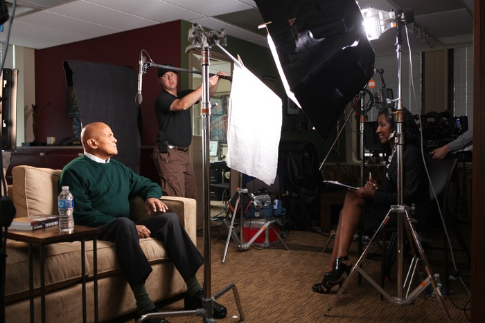 Interviewing Harry Belafonte at Belafonte Enterprises, NYC 5/2/11