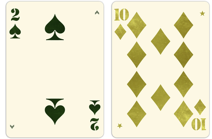 Two of Spades and 10 of Diamonds