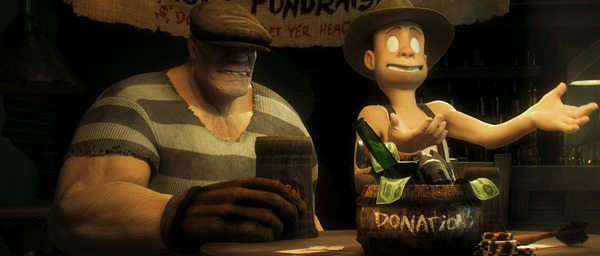 Goon and Franky are no strangers to money collecting... just don't make 'em ask you TWICE!