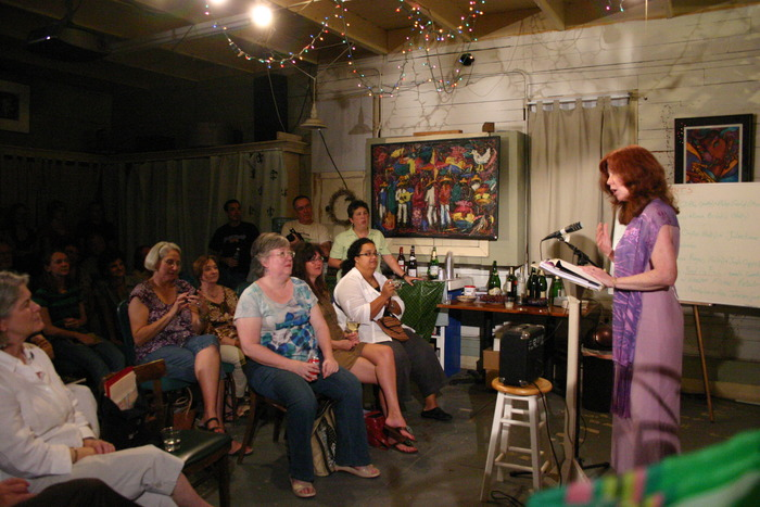 Louisiana Poet Laureate Julie Kane reading at Casa Azul.
