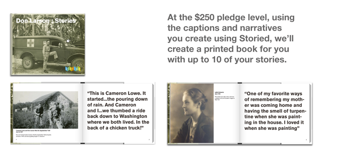 At $250 pledge, get a custom printed Storied Book (click to enlarge)
