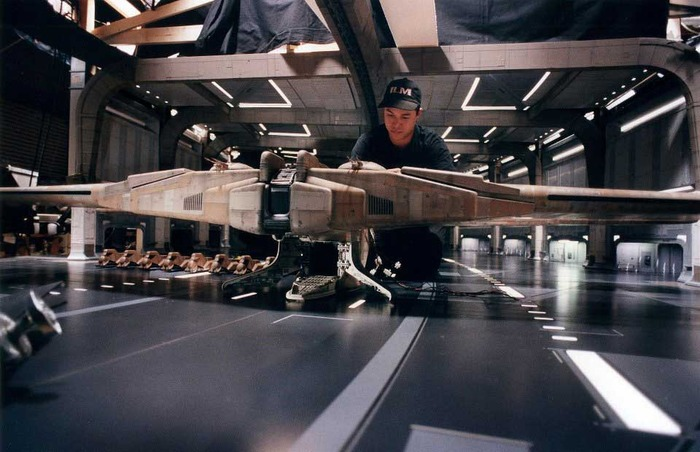 Fon Davis, one of our minature artists, working on Star Wars.