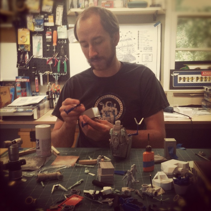 Jason Kisvarday, trained at New Deal Studios, could be teaching you how to build miniatures!