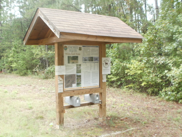 Enoree Waterfowl Area information board