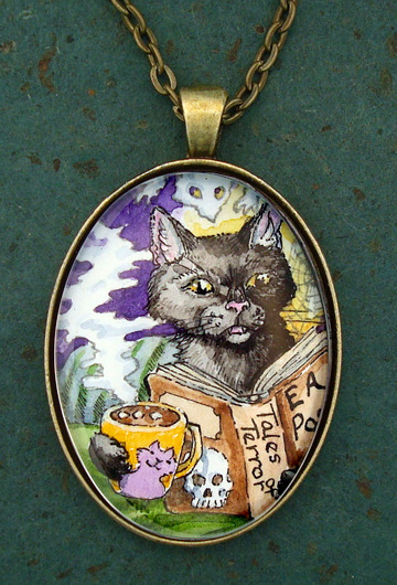 Readin' Poe pendant reward