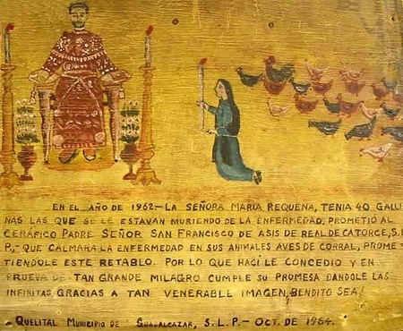 Retablos are a form of ExVotos