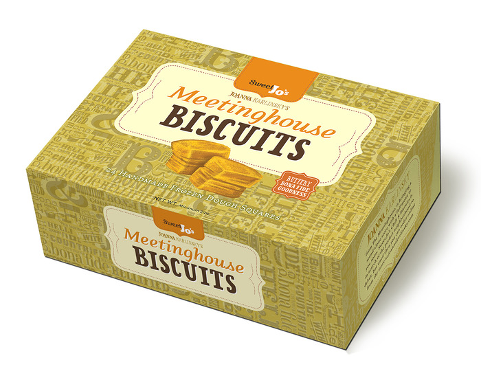 Here's the first draft of the new biscuit box. All my graphics, logos and brand identity are created by Matt & Sajee at Navigate 9 Design.