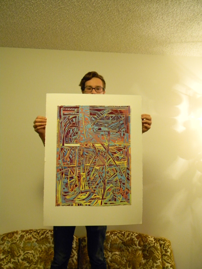 ALEX & One of his Woodcuts