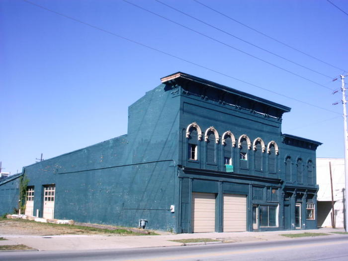 This was the building just before we purchased it.  Man was it an eyesore!