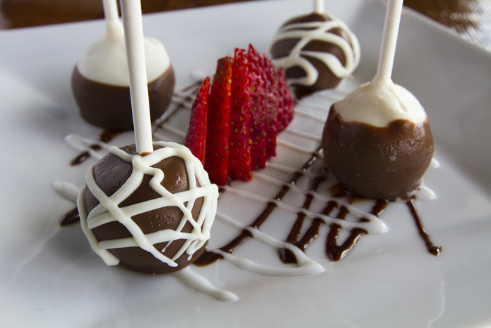 House made cheesecake lollipops.