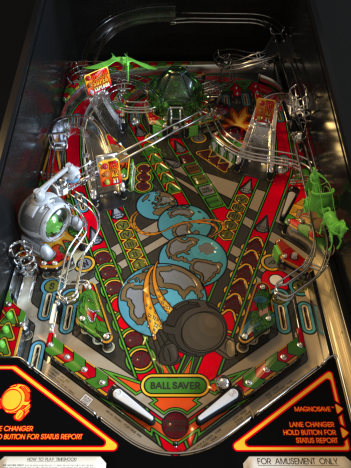 Timeshock! Playfield (2013 version) - Work in Progress