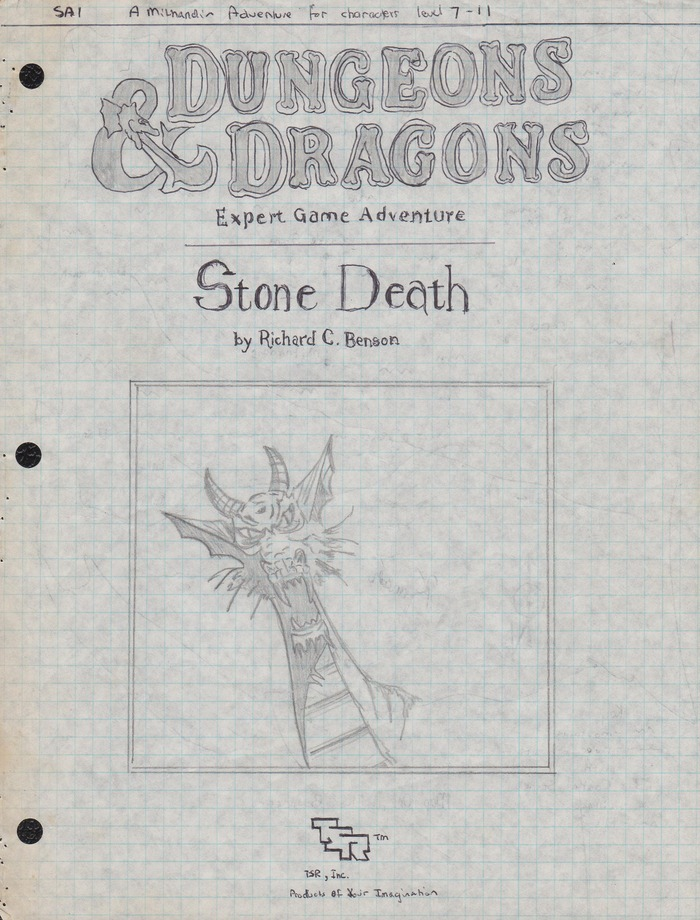 Stone Death cover, by Richard Benson