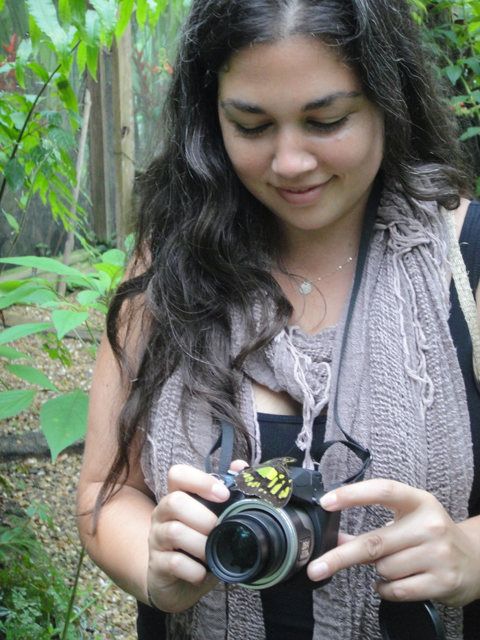 Me! Documenting butterflies in Belize.