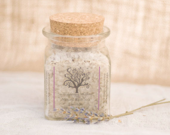Lavender Bath Salts by Lillington Based Company Whispering Willows