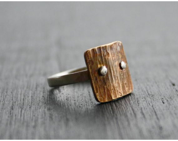 Bark Ring from Asheville Designer, Calaycay Designs