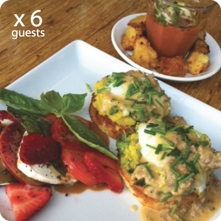 $250 Reward: 3-Course Brunch for 6 guests!