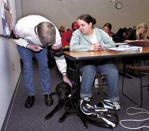 This picture was taken several years ago of me with my seeing eye dog, Bethany.