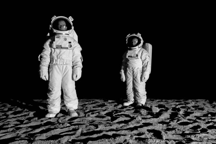 Bored Astronauts on the Moon 2011, John Wood & Paul Harrison, digital print