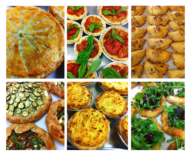 Some savory pies and pasties. We always have vegetarian savory pastry and pie offerings.