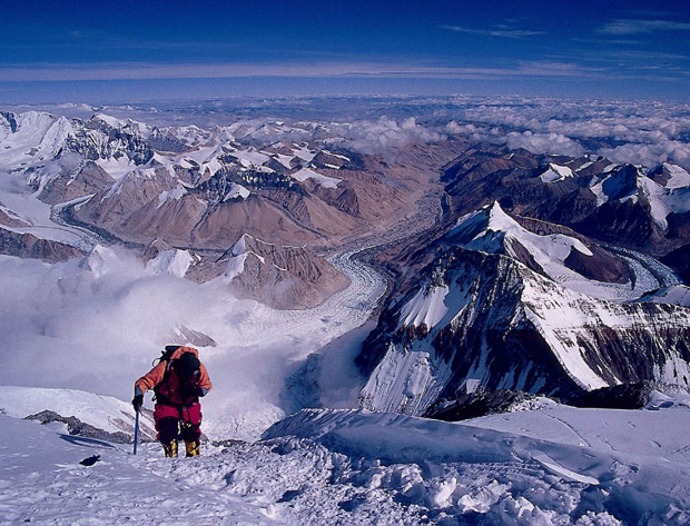 Approaching Mt. Everest Summit From the North.