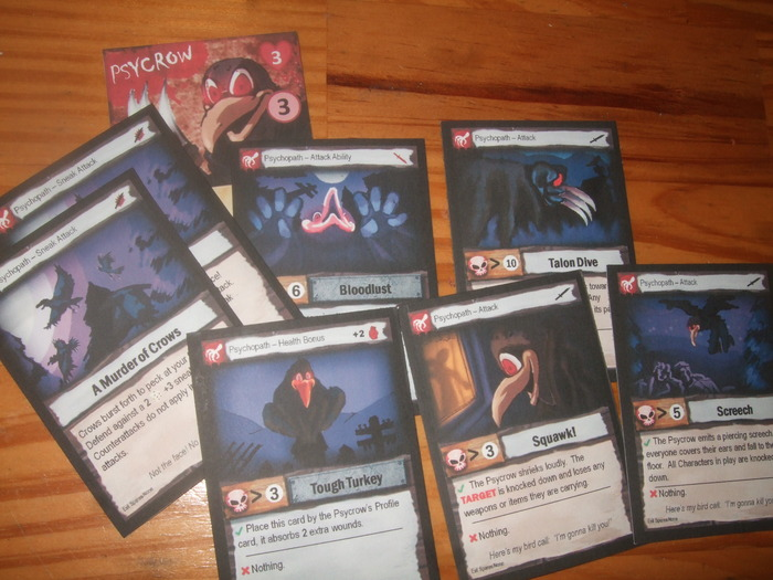 The Psycrow and his ability cards