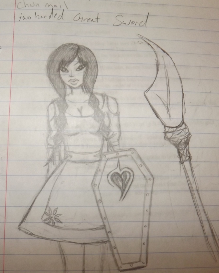 "Doodle of a future SHYFTRZ character ""Rose the innocent deadly."""