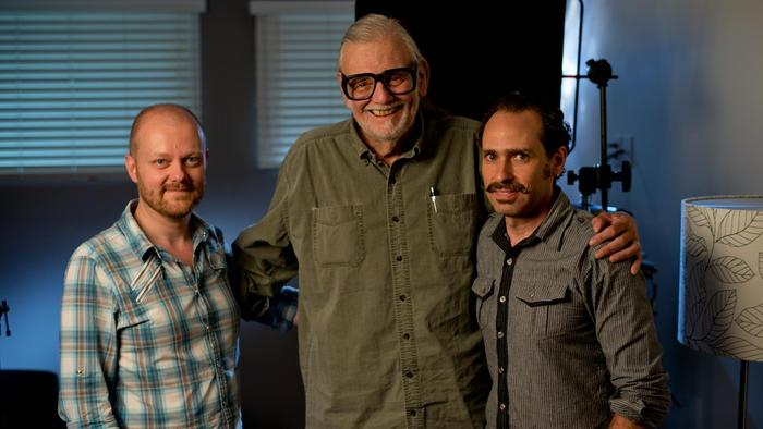 Director Alexandre O. Philippe and DoP/Producer Robert Muratore after an epic 2 hour interview with the great George A. Romero.