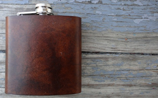 Leather Flask from Asheville Based Fleet Co.