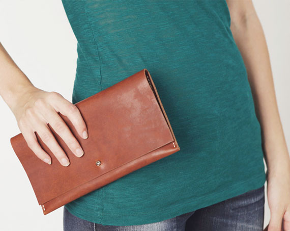 Leather Clutch from Durham Based Company Mill & Bird