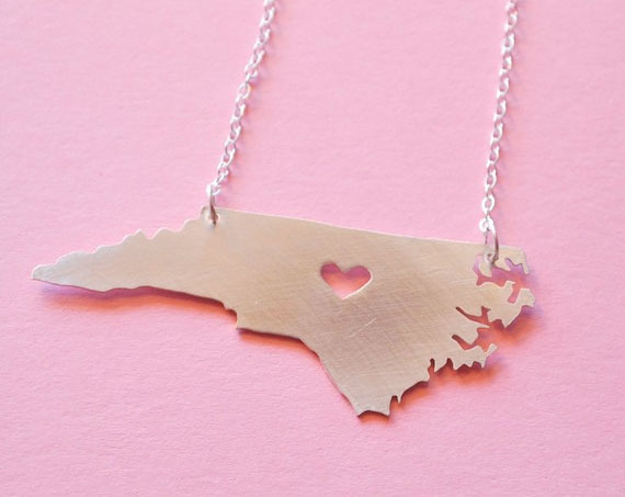 North Carolina Necklace by Pittsboro Based Business Vespertine